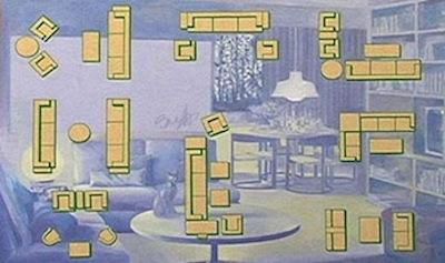 Blue Living Room - Sarnoff