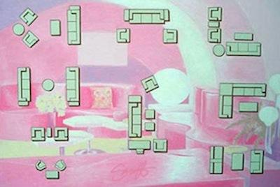 Pink Living Room - Sarnoff