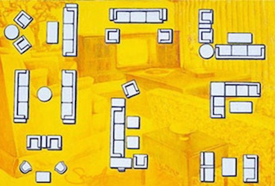 Yellow Living Room - Sarnoff