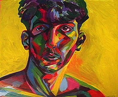 Self Portrait Yellow Matt Sarnoff